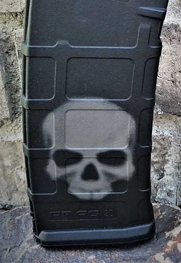 Custom Laser Engraved Ghost Skull Magazine