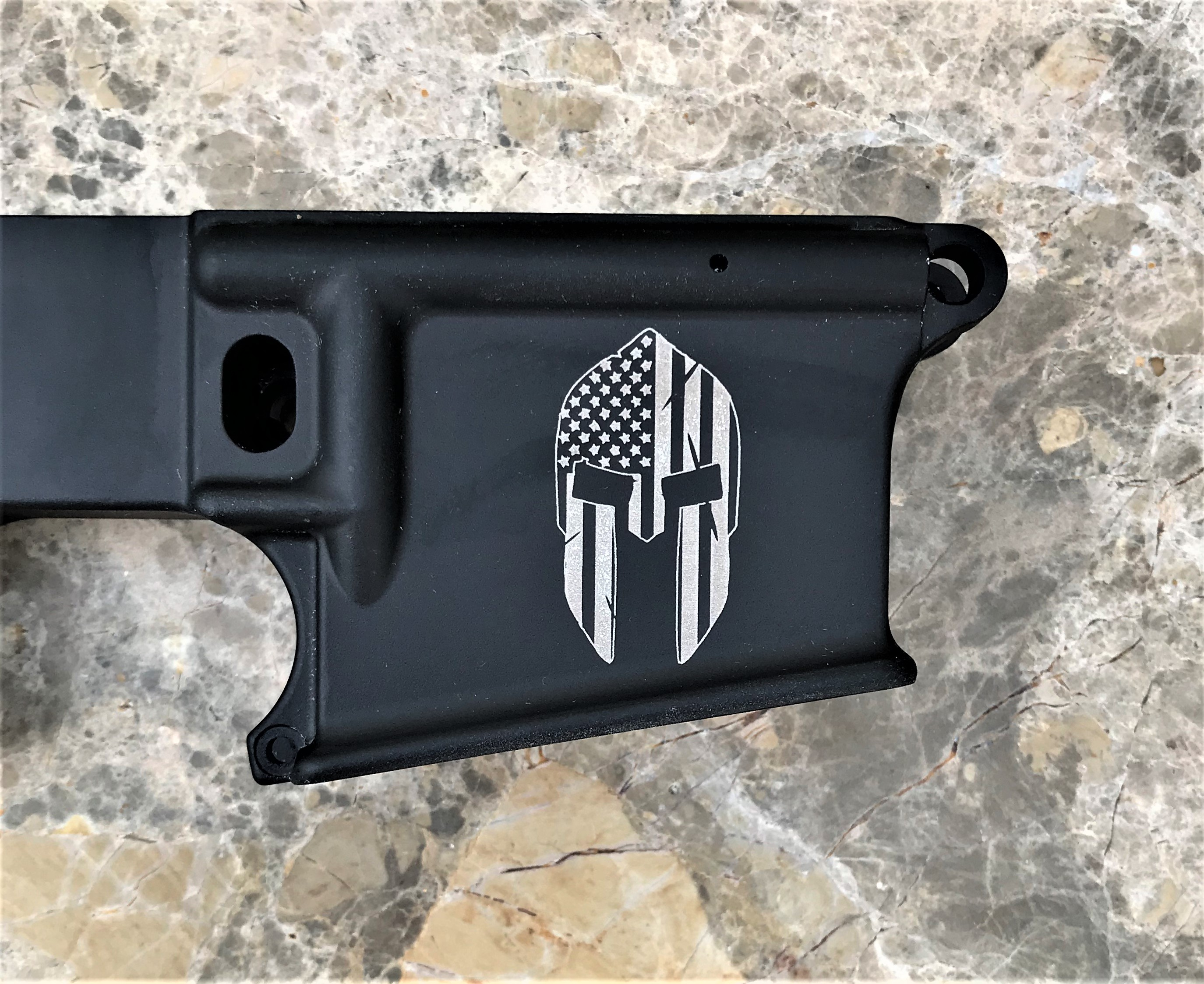 AR-15 Flag Spartan helmet 80% LOWER