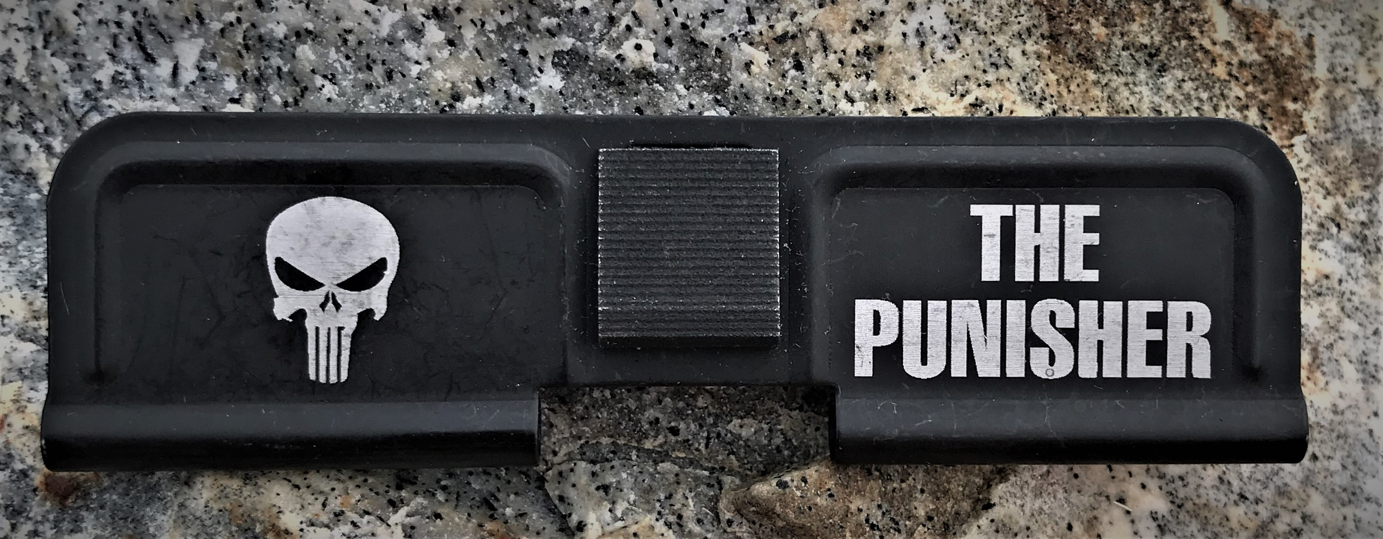 Custom AR 15 Ejection Port Cover The Punisher