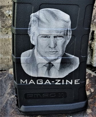 Custom Laser Engraved Trump Maga_zine