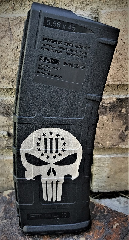 Custom Laser Engraved 3 Percenter Punisher Magazine