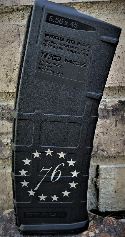 Custom Laser Engraved 1776  Stars Magazine