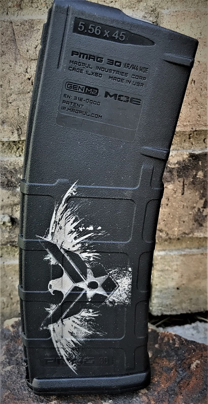 Custom Laser Engraved Air Force Magazine