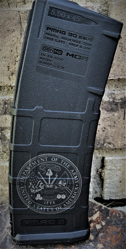 Custom Laser Engraved United States Army Magazine