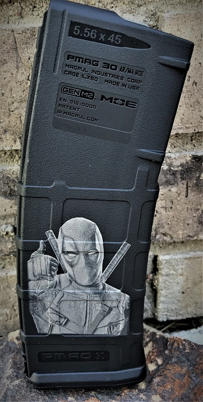 Custom Laser Engraved Deadpool Magazine