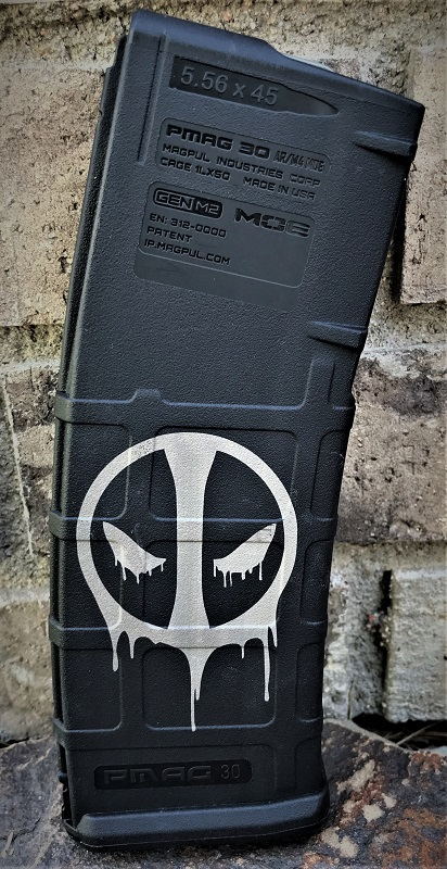 Custom Laser Engraved Deadpool Dripping Magazine