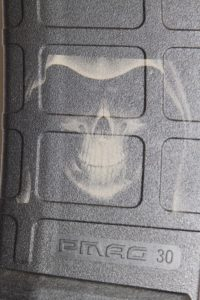 Custom Laser Engraved Hooded Skull Magazine