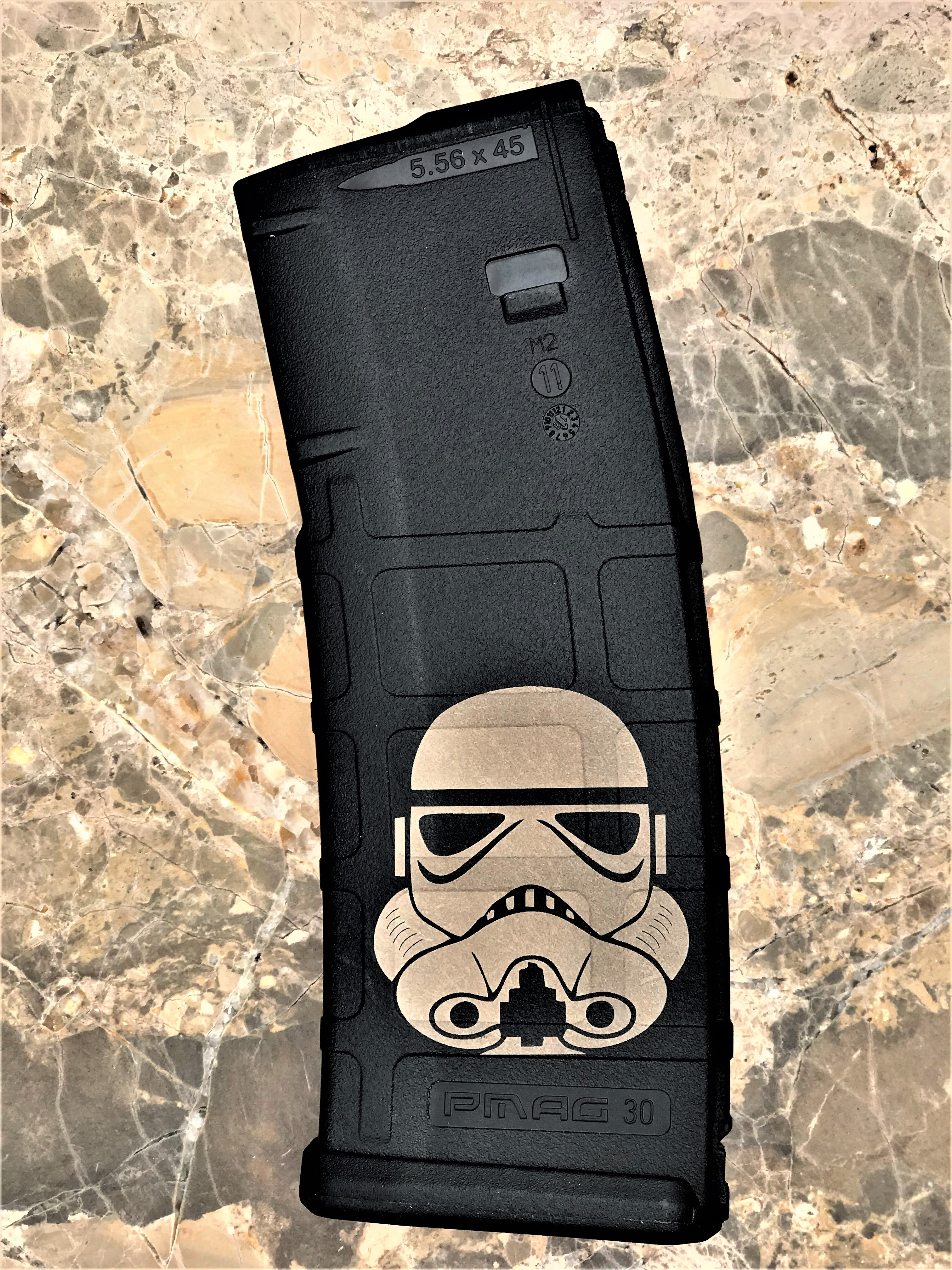 Custom Laser Engraved Storm Trooper Magazine