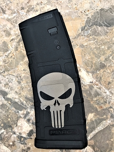 Custom Laser Engraved Punisher Magazine