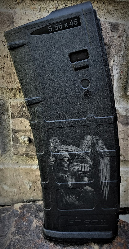 Custom Laser Engraved Time Reaper Magazine