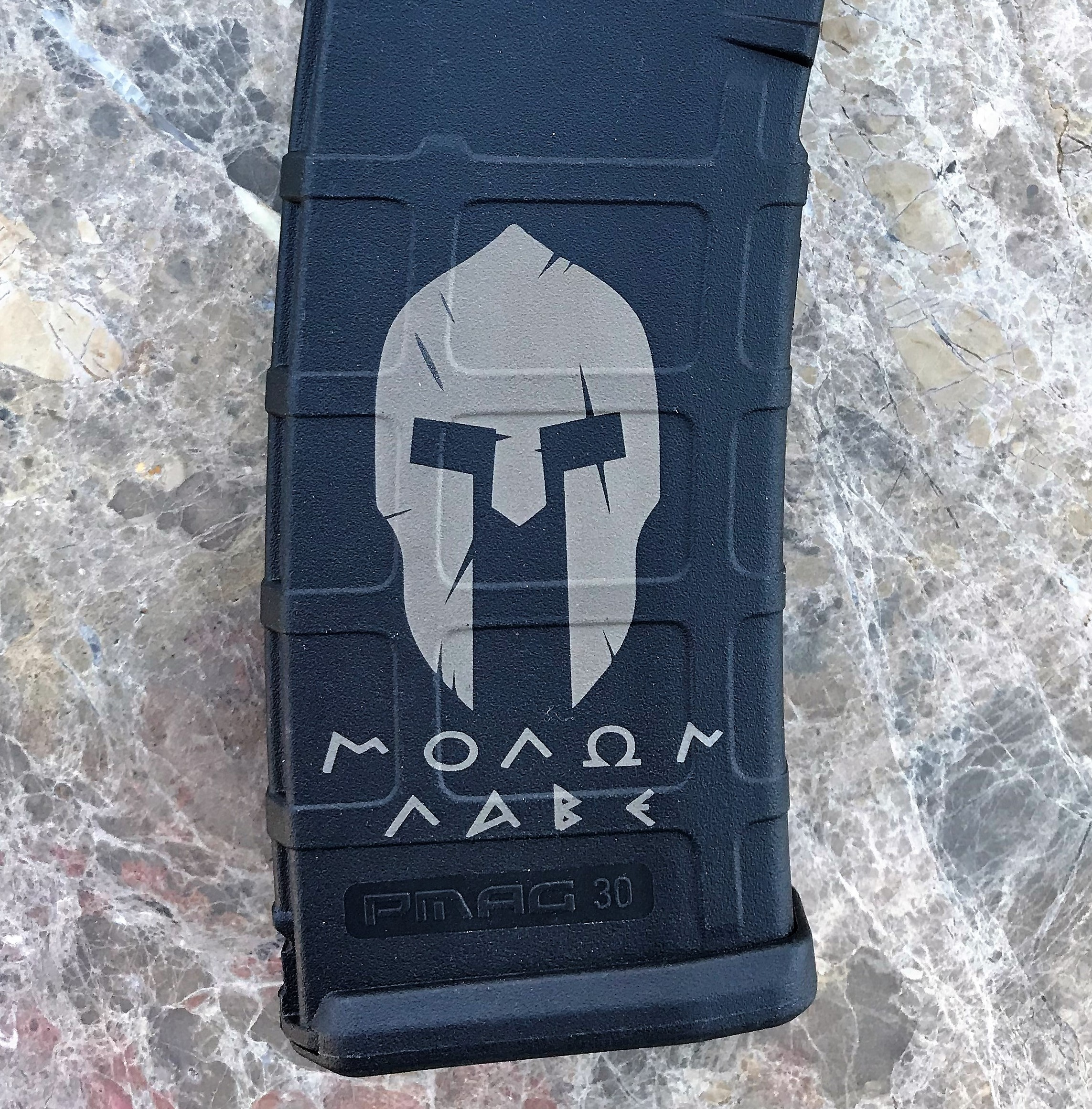 Custom Laser Engraved Molon Labe Magazine