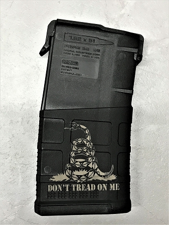 Custom Laser Engraved Don't Tread On Me .308 Magazine