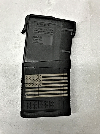 Custom Laser Engraved Flag .308 Magazine