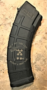 Custom Laser Engraved AK 47 Great Hand Magazine
