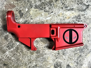 AR-15 Platform 80% Lower Red Deadpool