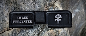 Custom AR 15 Ejection Port Cover 3 Percenter Punisher