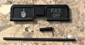 Custom AR 15 Ejection Port Cover F@&% 0FF
