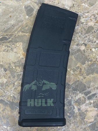 Custom Laser Engraved Hulk Magazine-Green