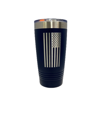 Polar Camel 20oz Navy Flag