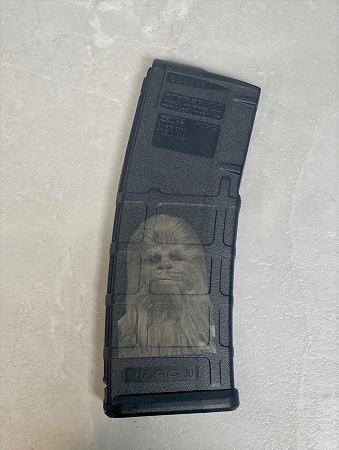 Custom Laser Engraved Chewbacca Magazine