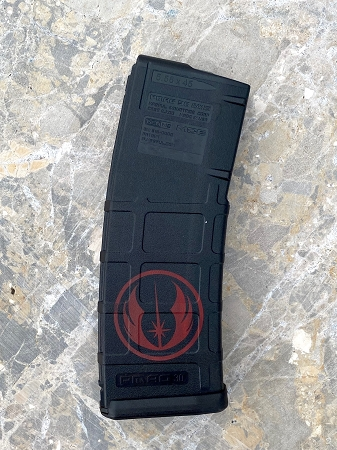 Custom Laser Engraved Jedi Order Symbol Magazine- RED