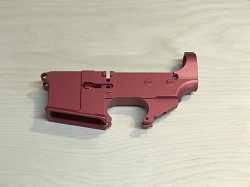 80% AR-15 Billet Anodized Pink Lower