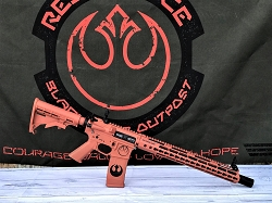 5.56 x 45 Custom Orange Star Wars Rebel AR-15