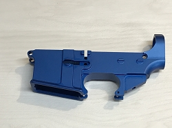 80% AR-15 Billet Anodized Blue Lower