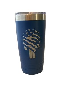Polar Camel 20oz Blue Tattered Flag Punisher