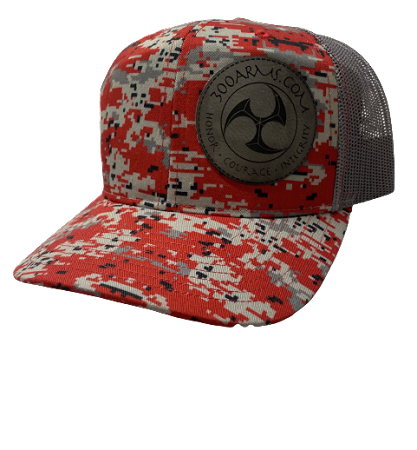 Logoed Red Digital Camo Trucker Hat