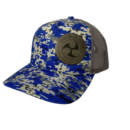 Logoed Blue Digital Camo Trucker Hat