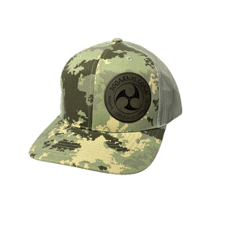 Logoed Gray Digital Camo Trucker Hat
