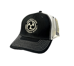 Silver Embroidered Logo Contrast Stitch Hat