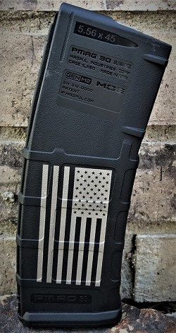 Custom Laser Engraved Flag Magazine
