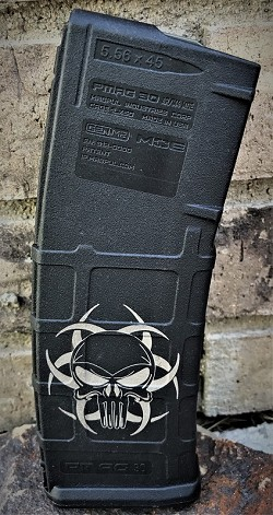 Custom Laser Zombie Punisher Magazine