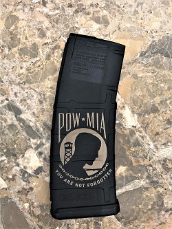 Custom Laser Engraved POW MIA Magazine