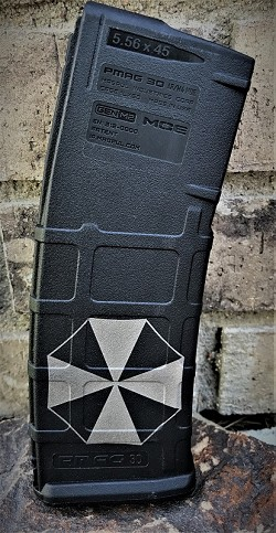 Custom Laser Engraved Umbrella Corp Magazine